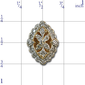 AC497 14K DIAMOND SLIDE -ANTIQUE LOOK