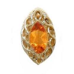 B2181 14K MARQUISE CITRINE SLIDE WITH OPEN X DESIGN