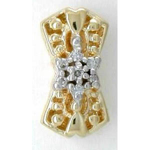 B3234 14K BOW LIKE SLIDE WITH DIAMOND CLUSTER