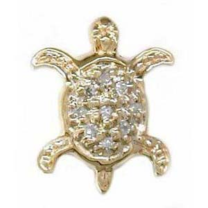 Y1548 14K SLIDE DIAMOND TURTLE
