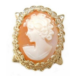 Y402 14K SHELL CAMEO SLIDE